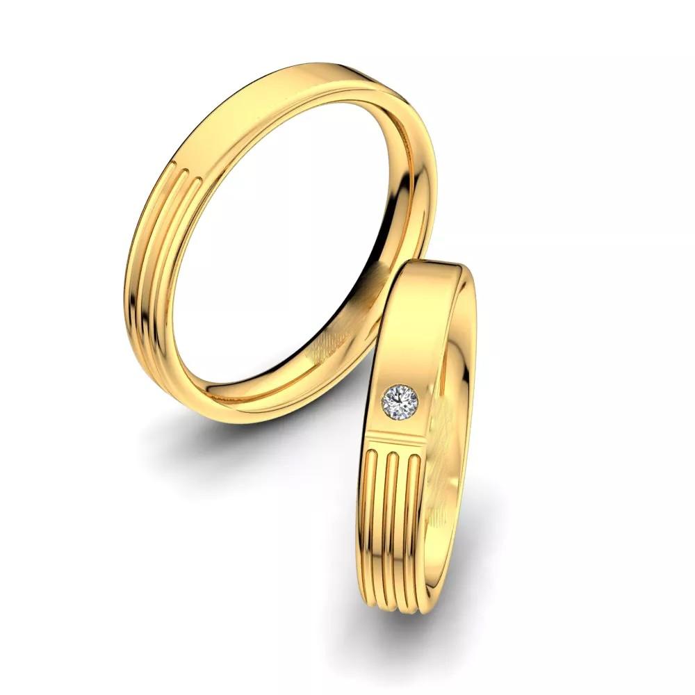 Обручальные кольца «3 линии»
