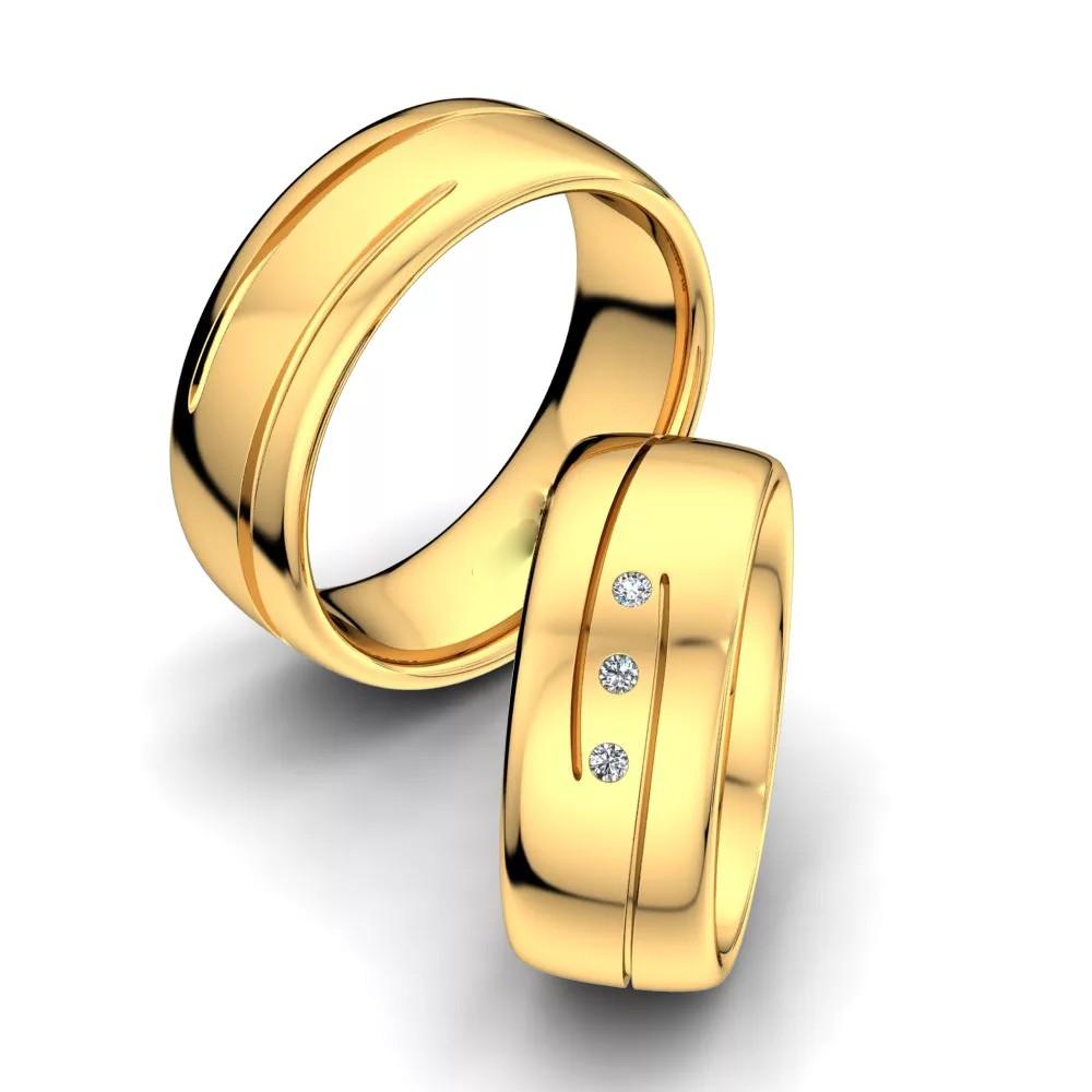 Обручальные кольца «Поток»
