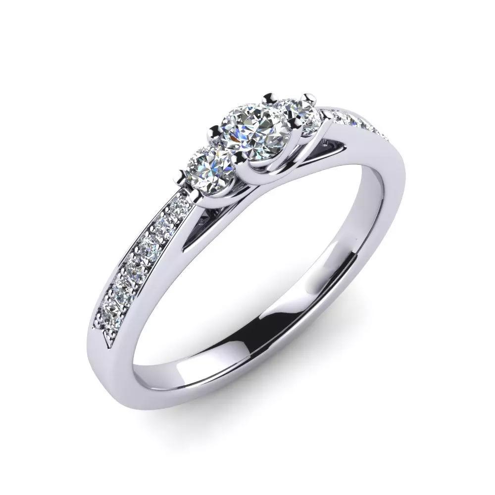 Помолвочное кольцо 444082