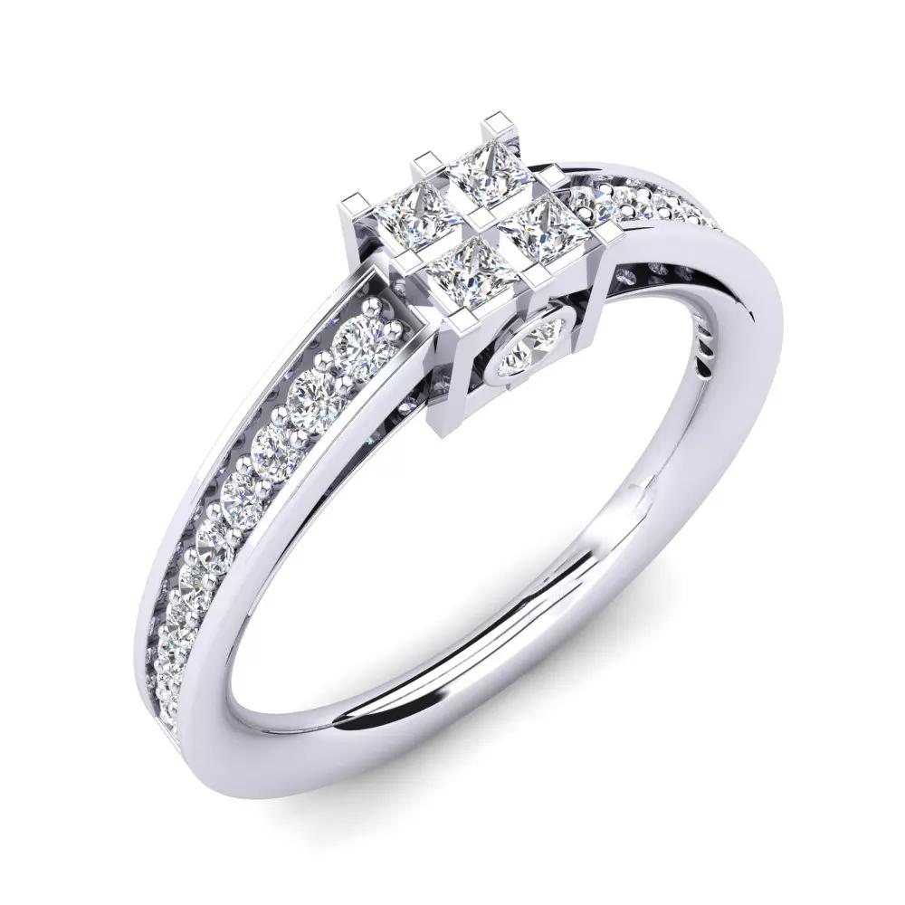 Помолвочное кольцо 444084