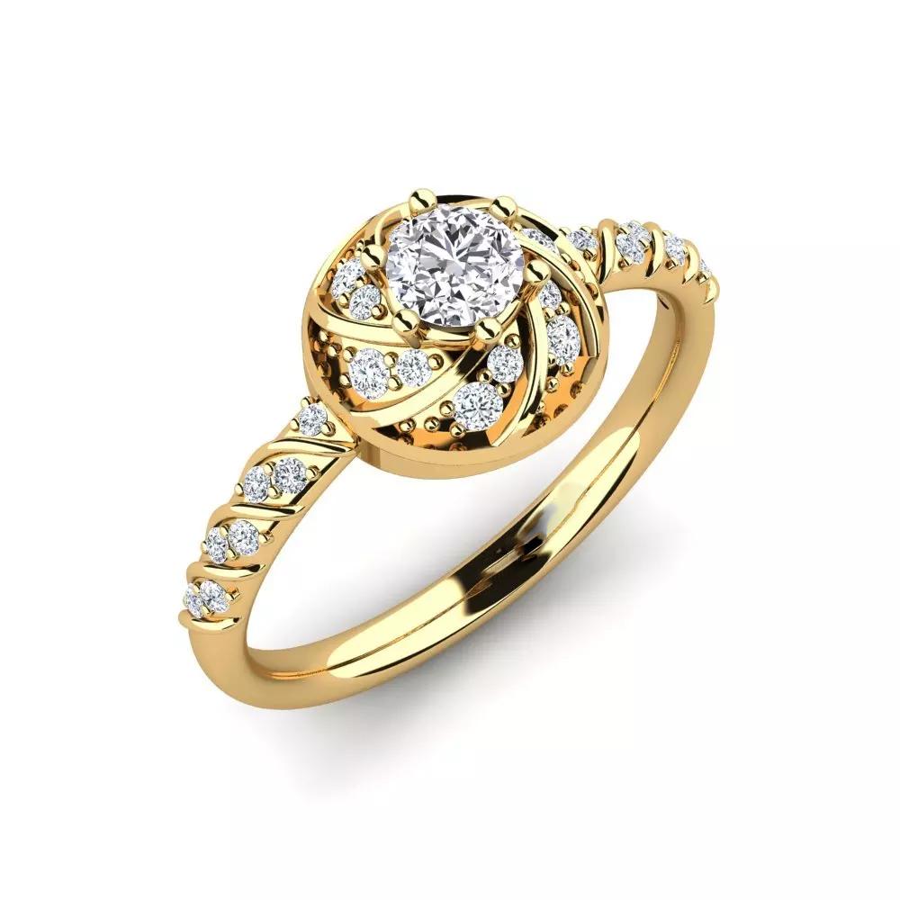 Помолвочное кольцо 444089