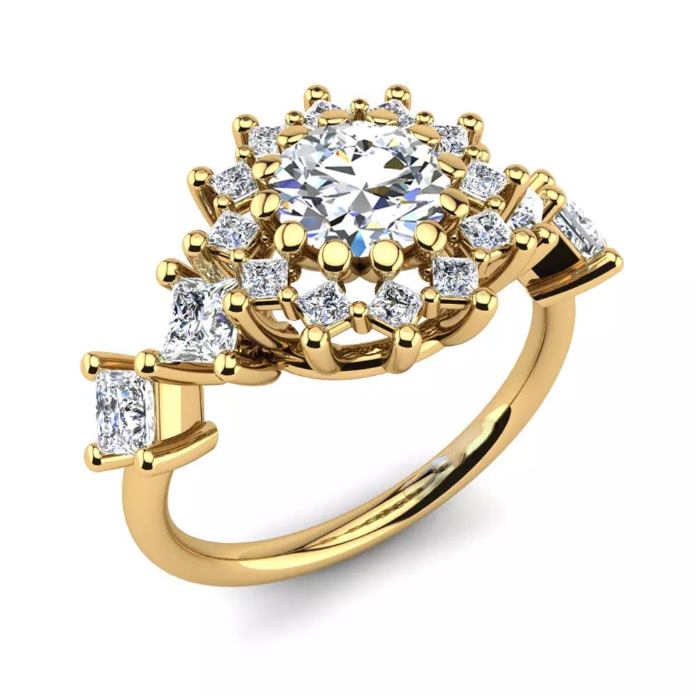Помолвочное кольцо 444090